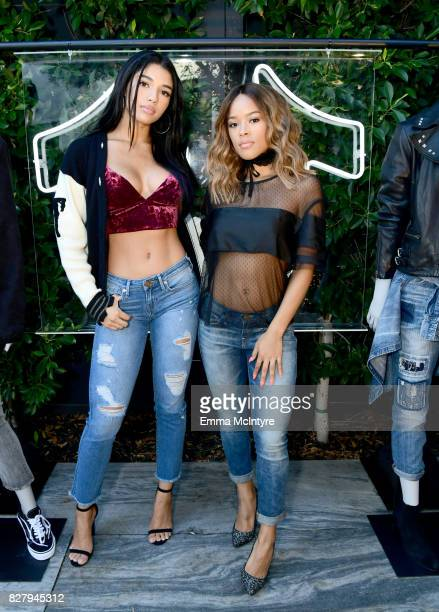 Yovanna Ventura and Serayah attend True Religion FIT event with Nylon at Ysabel on August 8 2017 in West Hollywood California