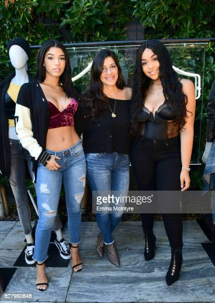 Yovanna Ventura True Religion CMO Tara Peyrache and Jordyn Woods attend True Religion FIT event with Nylon at Ysabel on August 8 2017 in West...