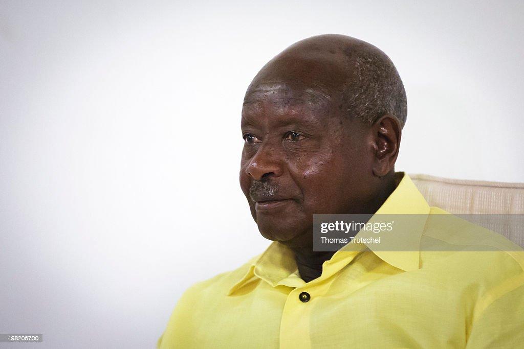 Yoweri Kaguta Museveni President of Uganda on November 21 2015 in Kampala Uganda