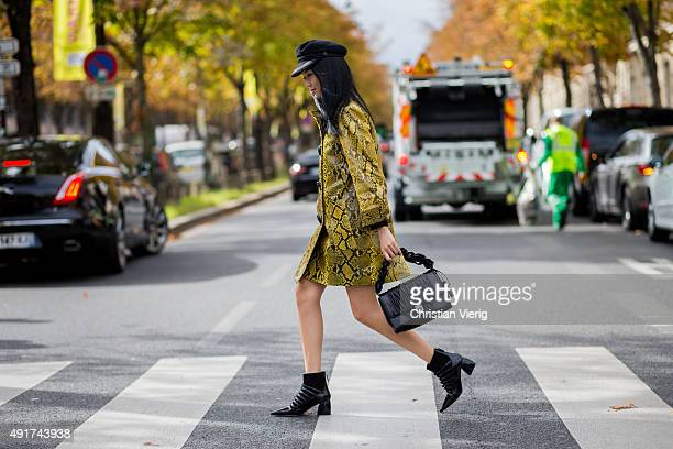 Yoyo Cao at Miu Miu during the Paris Fashion Week Womenswear Spring/Summer 2016 on Oktober 7 2015 in Paris France
