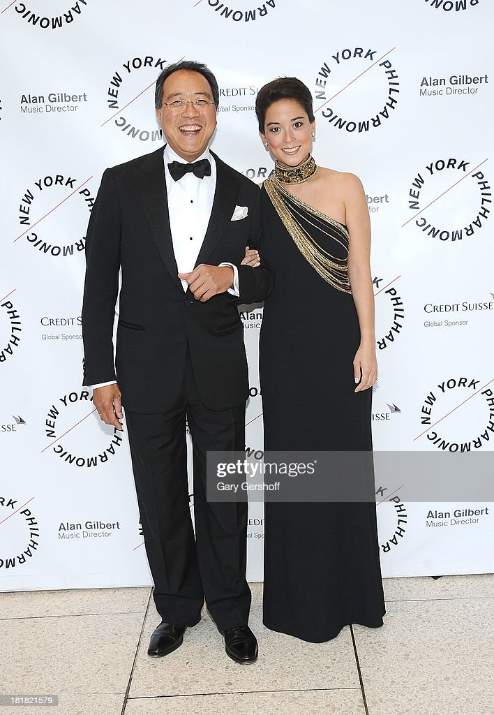 Yo-Yo Ma (L) and Emily Ma attend the New York Philharmonic 172nd Season Opening Night Gala at Avery Fisher Hall, Lincoln Center on September 25, 2013 in New York City.