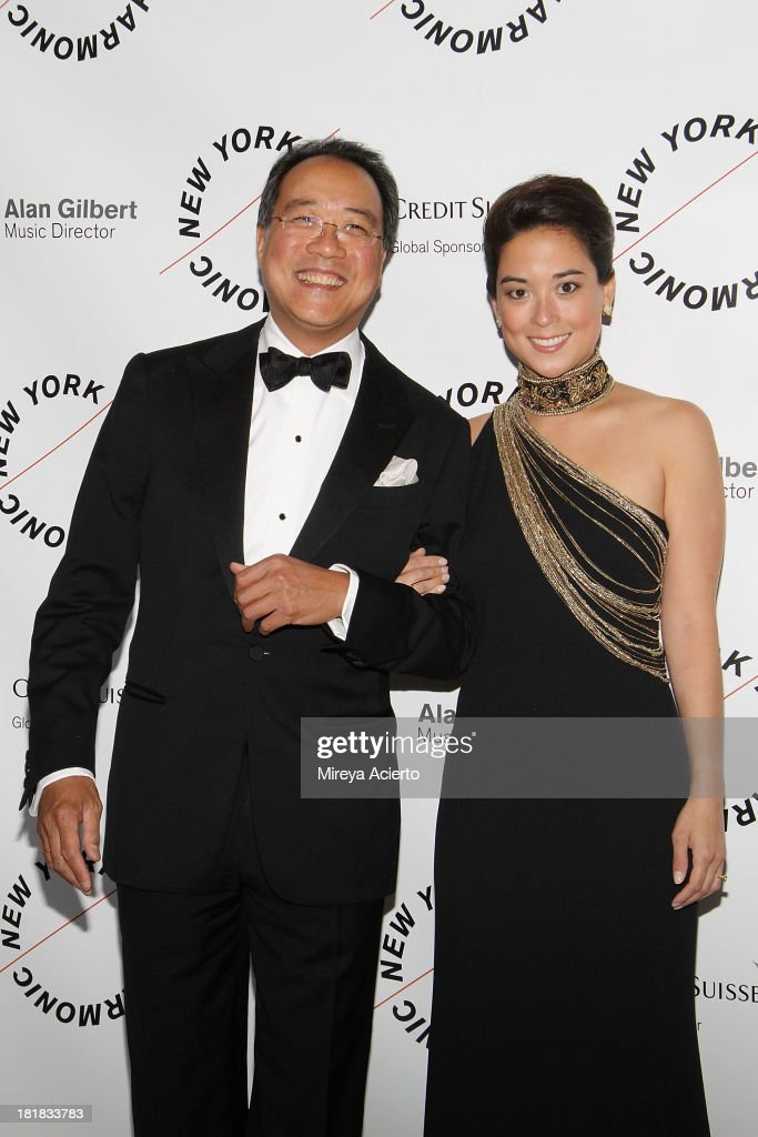 <a gi-track='captionPersonalityLinkClicked' href=/galleries/search?phrase=Yo-Yo+Ma&family=editorial&specificpeople=235395 ng-click='$event.stopPropagation()'>Yo-Yo Ma</a> and Emily Ma attend the New York Philharmonic 172nd Season Opening Night Gala at Avery Fisher Hall, Lincoln Center on September 25, 2013 in New York City.