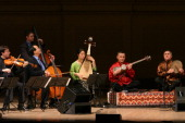 YoYo Ma and the Silk Road Ensemble performing at Carnegie Hall on Sunday night April 10 2005This image'Azeri Suite' performed by from left Nicholas...