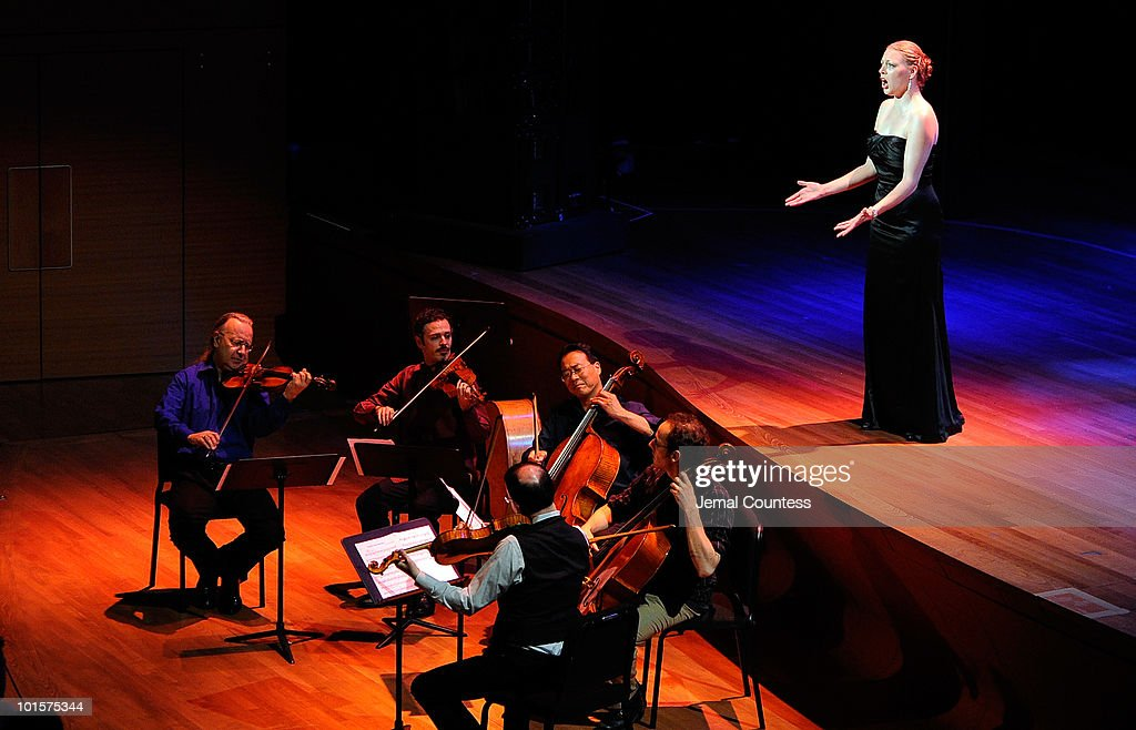 <a gi-track='captionPersonalityLinkClicked' href=/galleries/search?phrase=Yo-Yo+Ma&family=editorial&specificpeople=235395 ng-click='$event.stopPropagation()'>Yo-Yo Ma</a> performs with the Silk Road Ensemble and vocalist Emalie Savoy during the 2010 World Science Festival Opening Night Gala at Alice Tully Hall, Lincoln Center on June 2, 2010 in New York City.