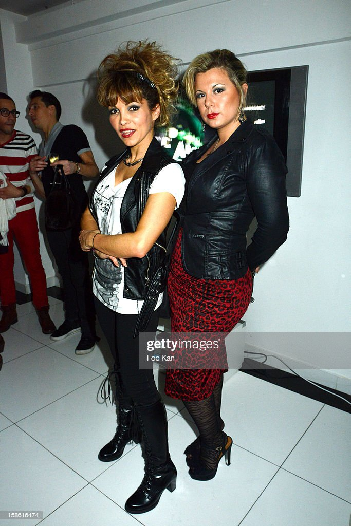 Ysa Ferrer and Cindy Lopes attend the 'Starter TV' Launch Party at Espace Brey on December 20, 2012 in Paris, France.