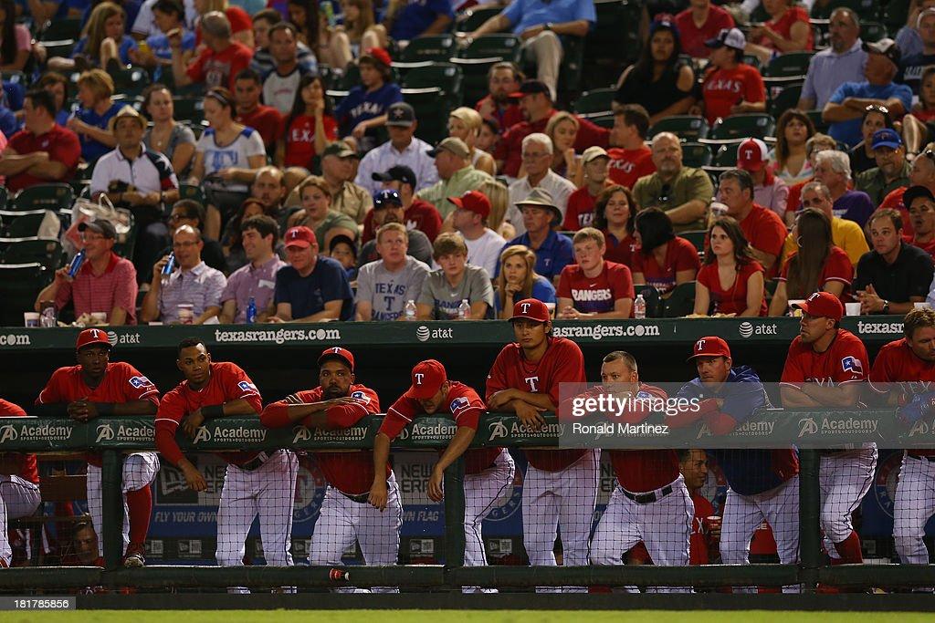 Yu Darvish #11 of the Texas Rangers at Rangers Ballpark in Arlington on September 24, 2013 in Arlington, Texas.
