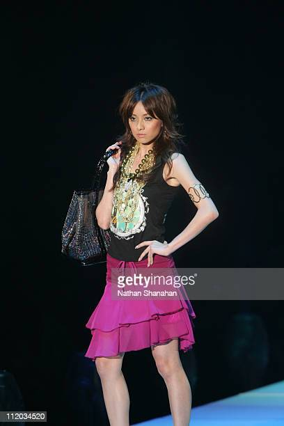 Yu Fujii wearing LIP SERVICE during the Tokyo Girls Collection by girlswalkercom 2006 Spring/Summer
