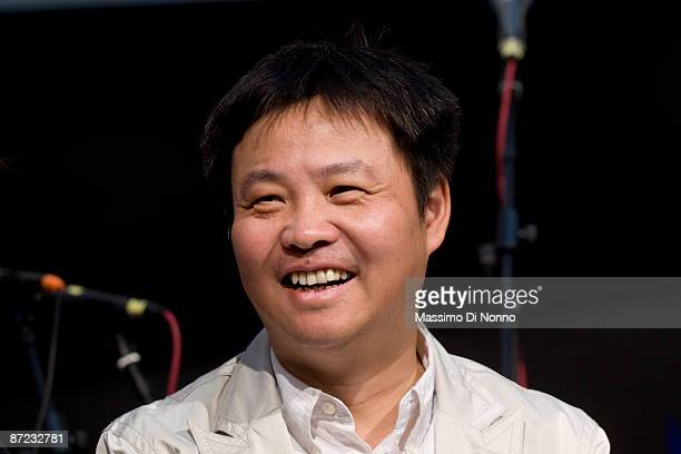 Yu Hua chinese writer attends at the Turin 2009 International Book Fair on May 14 2009 in Turin Italy