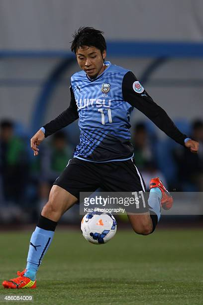 Yu Kobayashi of Kawasaki Frontale in action during the AFC Champions League Group H match between Kawasaki Frontale and Ulsan Hyundai at Todoroki...