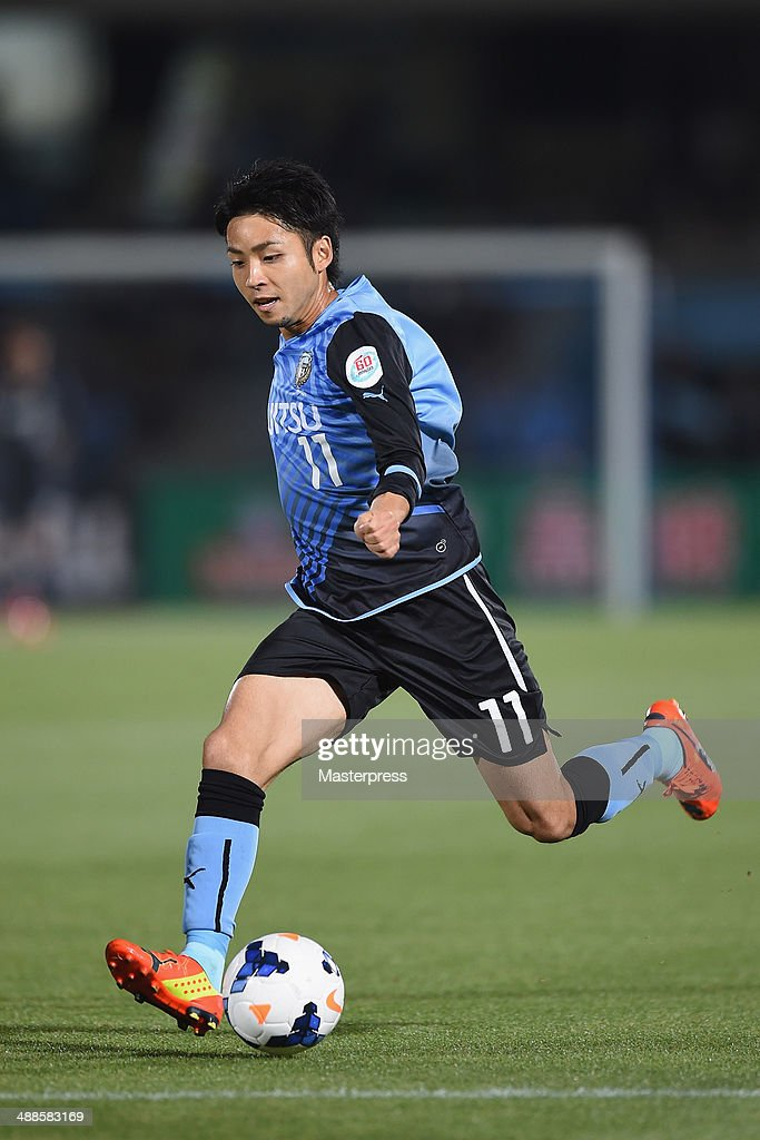 Yu Kobayashi of Kawasaki Frontale in action during the AFC Champions League Round of 16 match between Kawasaki Frontale and FC Seoul at Todoroki Stadium on May 7, 2014 in Kawasaki, Kanagawa, Japan.