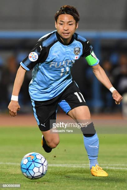 Yu Kobayashi of Kawasaki Frontale in action during the AFC Champions League Group G match between Kawasaki Frontale and Eastern SC at Kawasaki...