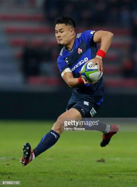 Yu Tamura of Japan during the international match between Japan and Tonga at Stade Ernest Wallon on November 18 2017 in Toulouse Kanagawa France