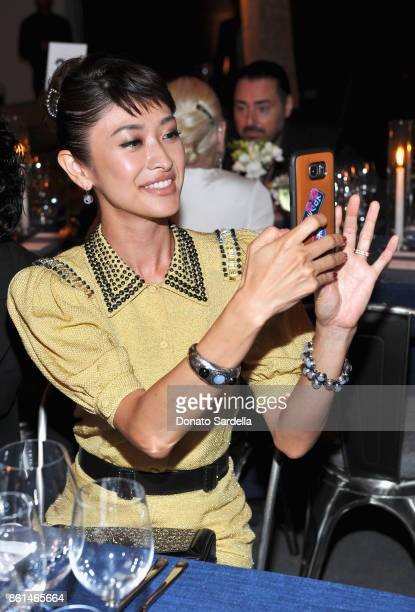Yu Yamada at the Hammer Museum 15th Annual Gala in the Garden with Generous Support from Bottega Veneta on October 14 2017 in Los Angeles California