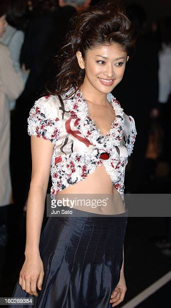 Yu Yamada during Giorgio Armani Fall/Winter 2005 Celebrity Arrivals at Meiji Shrine Shotoku Memorial Exhibition Hall in Tokyo Japan