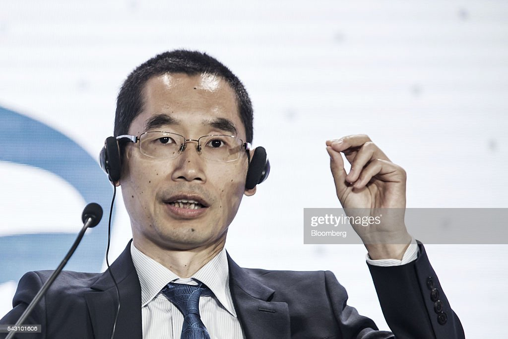 Yuan Hui, chief executive officer of Shanghai Xiaoi Robot Technology Co., speaks during a session at the World Economic Forum (WEF) Annual Meeting of the New Champions in Tianjin, China, on Sunday, June 26, 2016. The meeting runs through June 28. Photographer: Qilai Shen/Bloomberg via Getty Images