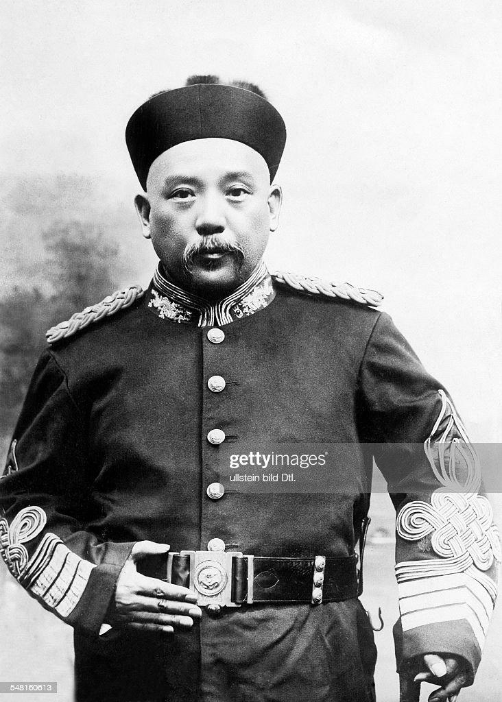 Yuan Shikai *16091859 General politician 1st President of the Republic of China 19121916 in uniform around 1908 Photographer Philipp Kester Vintage...