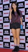 YuBin of Wondergirls attends 'R2B Return To Base' VIP press screening at Wangsimni CGV on August 8 2012 in Seoul South Korea