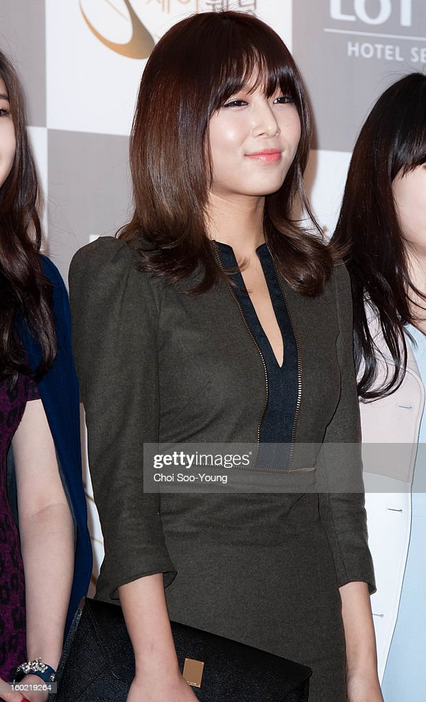 Yu-Bin of Wondergirls attends Sun's Wedding at lotte hotel on January 26, 2013 in Seoul, South Korea.