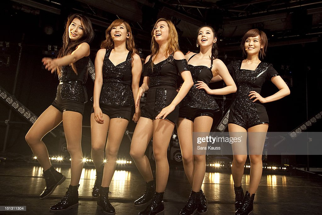 Yubin Yenny Lim Sohee and Sun of Wonder Girls perform onstage at iHeartRadio Presents Wonder Girls at iHeartRadio Performance Theater on September 5...