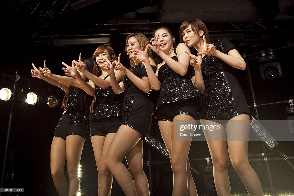 Yubin, Yenny, Lim, Sohee and Sun of Wonder Girls perform onstage at iHeartRadio Presents Wonder Girls at iHeartRadio Performance Theater on September 5, 2012 in New York City.