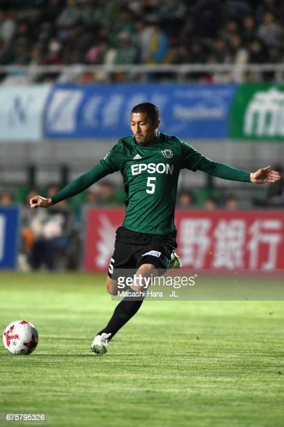 Yudai Iwama of Matsumoto Yamaga in action during the JLeague J2 match between Matsumoto Yamaga and Kamatamare Sanuki at Matsumotodaira Park Stadium...