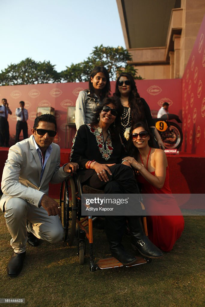 VJ Yudi (L) with guests at the Cartier 'Travel With Style' Concours 2013 at Taj Lands End on February 10, 2013 in Mumbai, India.