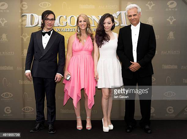 Yuefeng Song Keely Hawkes Jane Zhang and Bill Borden attend the 'Dragon Nest' photocall during the 67th Annual Cannes Film Festival on May 18 2014 in...