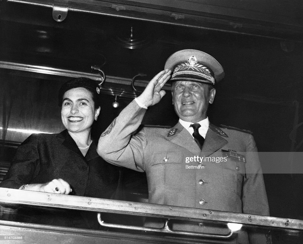 Yugoslavian president Tito and his wife depart for a state visit to the Soviet Union.
