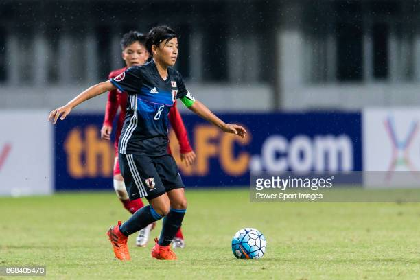 Yui Fukuta of Japan in action during their AFC U19 Women'u2019s Championship 2017 Group Stage B match between Japan and Vietnam at Jiangning Sports...
