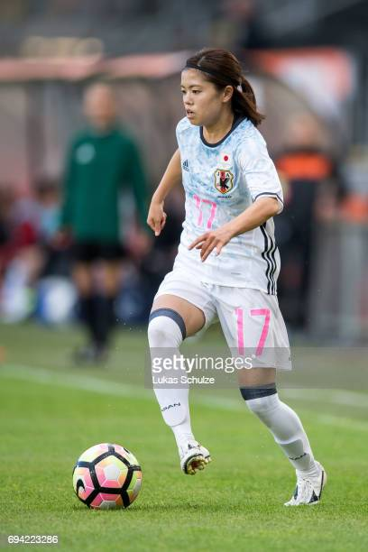 Yui Hasegawa of Japan in action during the Women's International Friendly match between Netherlands and Japan at Rat Verlegh Stadion on June 9 2017...
