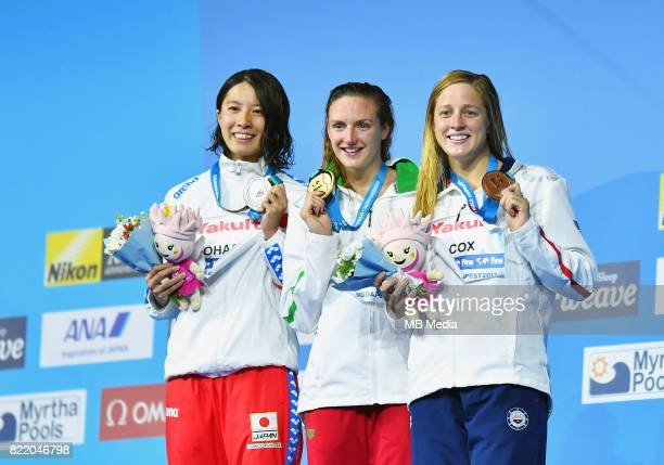 Yui HOSSZU Katinka COX Madisyn during the Budapest 2017 FINA World Championships on July 24 2017 in Budapest Hungary