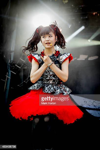 Yui Mizuno performs with Babymetal on Day 1 of the Heavy Montreal Festival on August 9 2014 in Montreal Canada