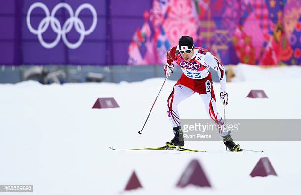 Yuichi Onda of Japan competes during the Cross Country Men's Sprint Free during the Sochi 2014 Winter Olympics at Laura Crosscountry Ski Biathlon...