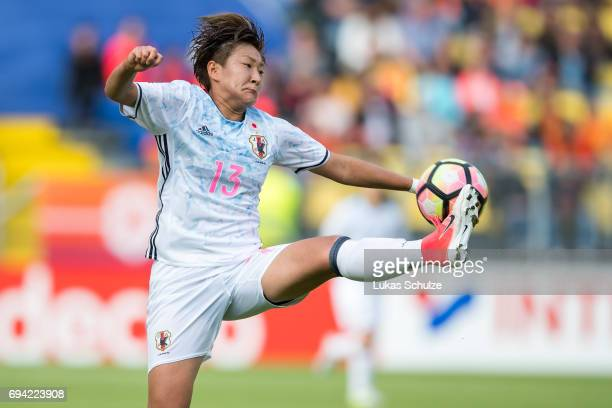 Yuika Sugasawa of Japan in action during the Women's International Friendly match between Netherlands and Japan at Rat Verlegh Stadion on June 9 2017...