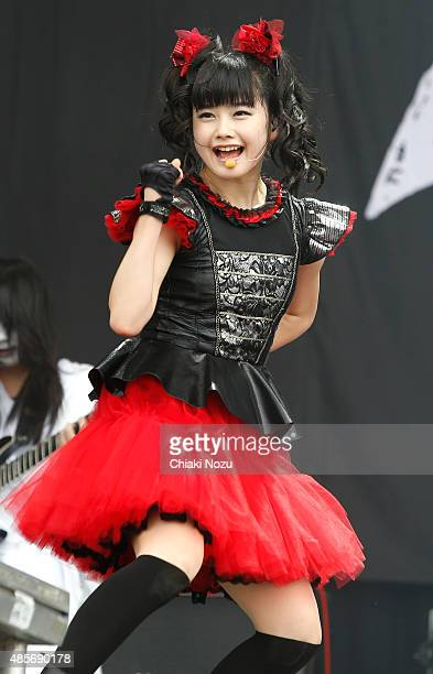 Yuimetal of Babymetal performs on Day 2 of the Reading Festival at Richfield Avenue on August 29 2015 in Reading England