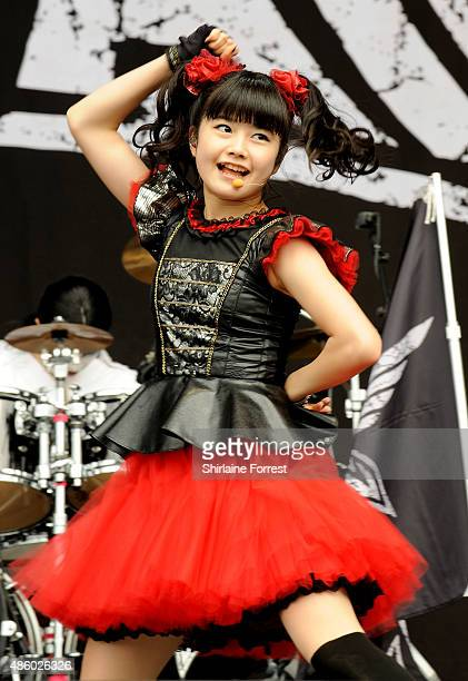 Yuimetal of Babymetal performs on day 3 of The Leeds Festival at Bramham Park on August 30 2015 in Leeds England Yui Mizuno
