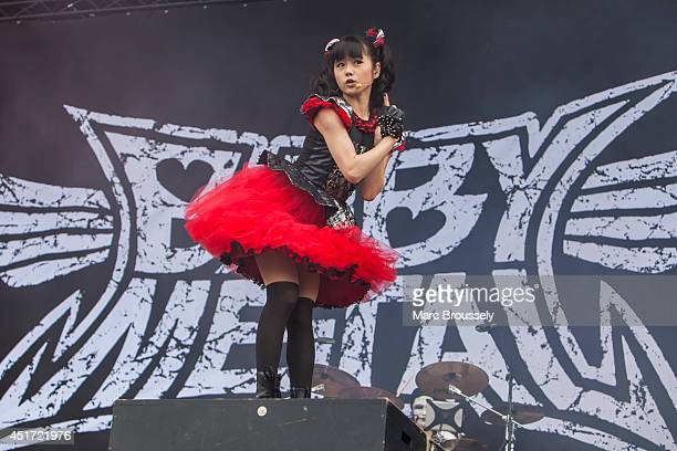 Yuimetal of Babymetal performs on stage at Sonisphere at Knebworth Park on July 5 2014 in Knebworth United Kingdom