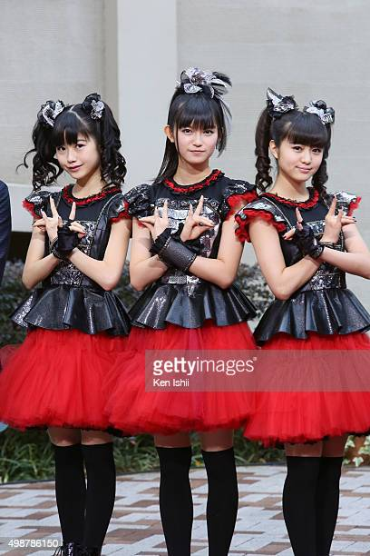 Yuimetal Sumetal and Moametal of Babymetal attend the VOGUE JAPAN Women of the Year at the Meguro Gajoen on November 26 2015 in Tokyo Japan