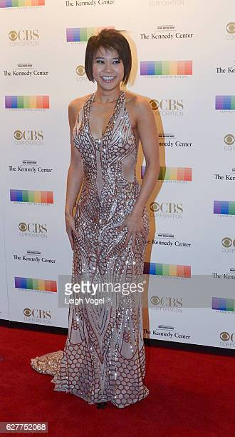 Yuja Wang arrives at the 39th Annual Kennedy Center Honors at The Kennedy Center on December 4 2016 in Washington DC