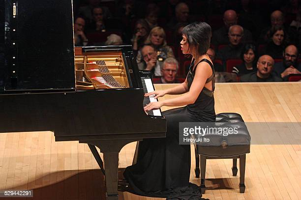 Yuja Wang performing the music of Schubert Liszt Scriabin and Balakirev at Carnegie Hall on Thursday night December 11 2014