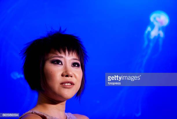 Yuja Wang performs at the Oceanografic on April 7 2017 in Valencia Spain