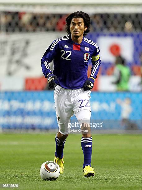 Yuji Nakazawa of Japan in action during Kirin Challenge Cup Soccer match between Japan and Venezuela at Kyushu Sekiyu Dome on February 2 2010 in Oita...