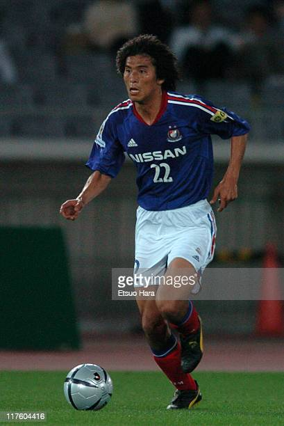Yuji Nakazawa of Yokohama F Marinos in action during the JLeague Division 1 first stage match between Yokohama F Marinos and Shimizu SPulse at...