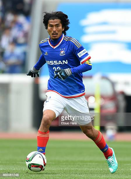 Yuji Nakazawa of Yokohama FMarinos in action during the J League match between Yokohama F Marinos and Kawasaki Frontale at Nissan Stadium on March 7...