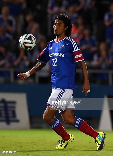 Yuji Nakazawa of Yokohama FMarinos in action during the JLeague Yamazaki Nabisco Cup semifinal first leg match between Yokohama FMarinos and Kashiwa...