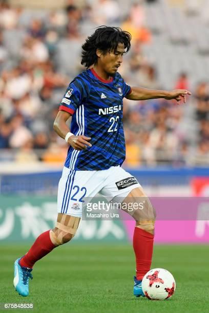 Yuji Nakazawa of Yokohama FMarinos in action during the JLeague J1 match between Yokohama FMarinos and Gamba Osaka at Nissan Stadium on April 30 2017...