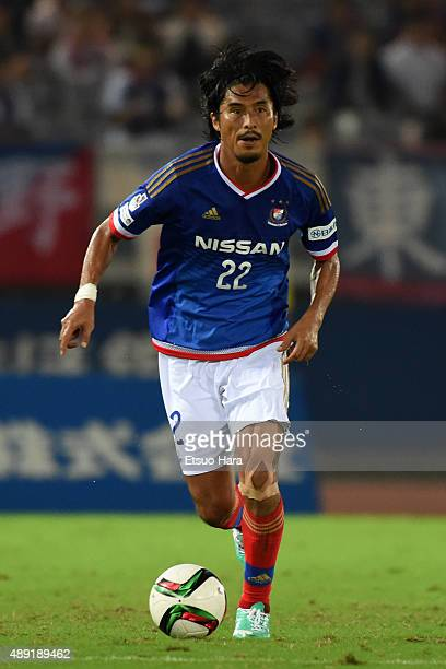 Yuji Nakazawa of Yokohama FMarinos in action during the JLeague match between Yokohama FMarinos and FC Tokyo at Nissan Stadium on September 19 2015...