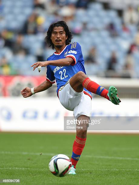 Yuji Nakazawa of Yokohama FMarinos in action during the JLeague match between Yokohama FMarinos and Vissel Kobe at Nissan Stadium on October 17 2015...