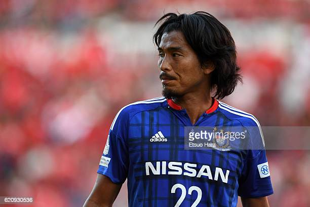 Yuji Nakazawa of Yokohama FMarinos looks on after the JLeague match between Urawa Red Diamonds and Yokohama FMarinos at Saitama Stadium on November 3...