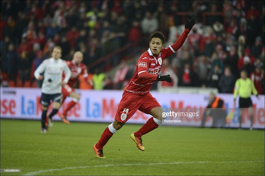 Yuji Ono of Standard during the Jupiler League match between Standard de Liege and KV Kortrijk on January 25 2013 in Liege Belgium